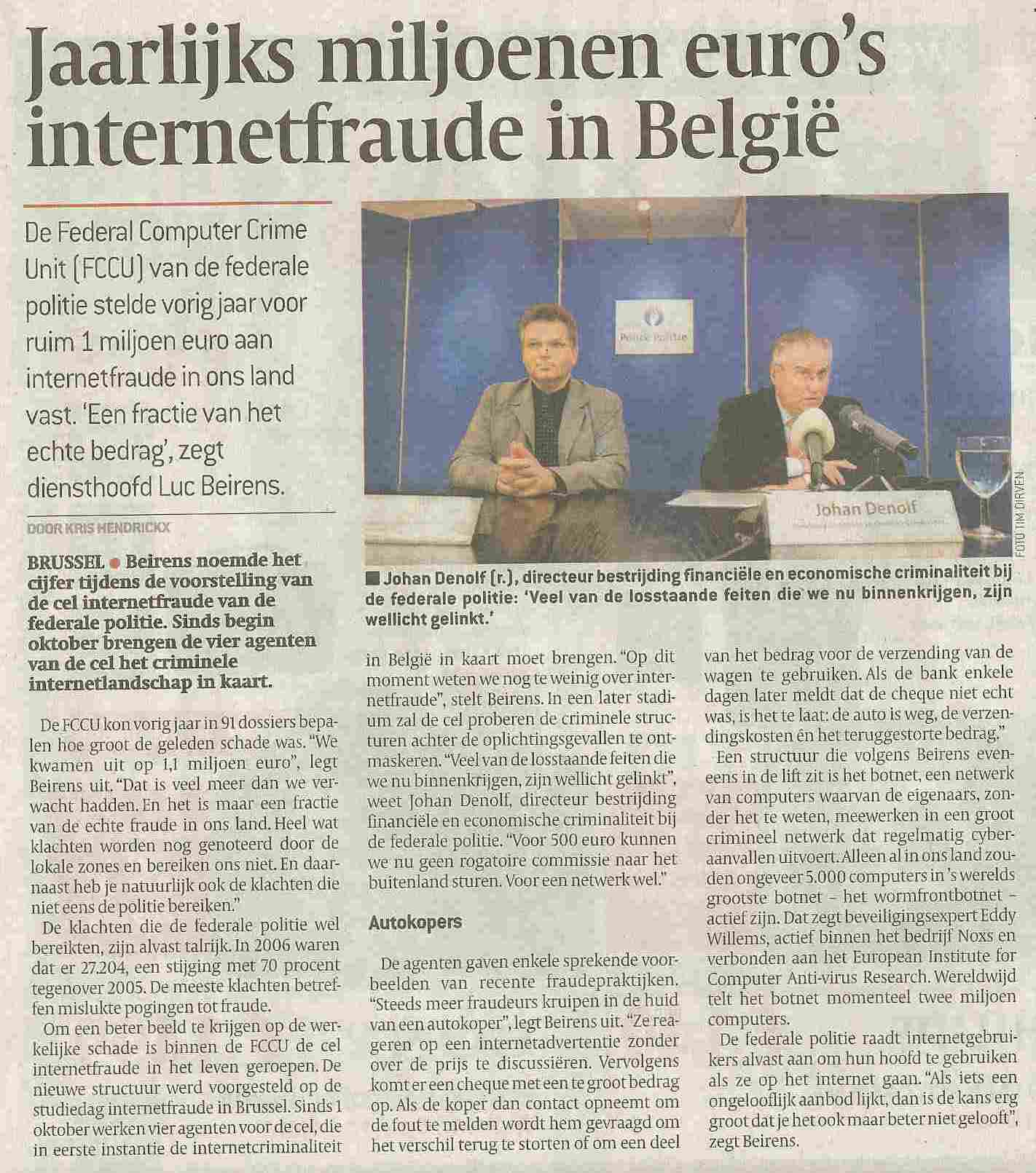 cyber crime unit belgique